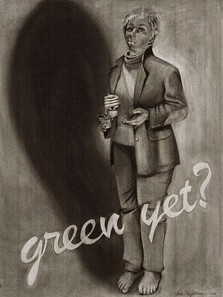 Portrait of the Artist as an Arrogant American: green yet?