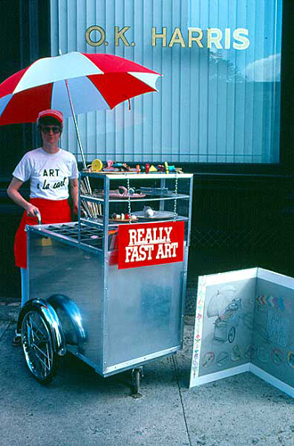 Art-a-la-Cart . 1985 . performance/sale in SoHo