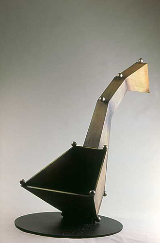 Follow: The River and the Drinkin' Gourd . 2002 . wood & Plexiglass . 72inx48inx60in
