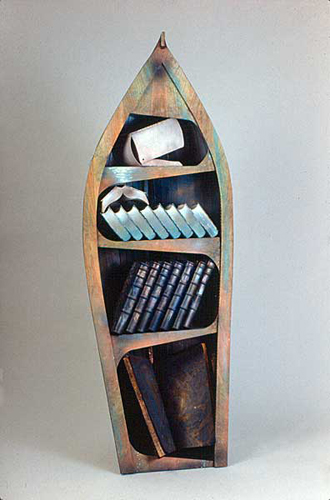 Ishmael's Locker . 1988 . wood & mixed media . 80inx30inx24in