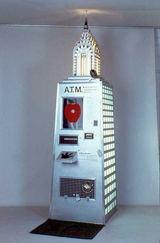 A.T.M. 1987 . mixed media . interactive sculpture . 108inx30inx36in