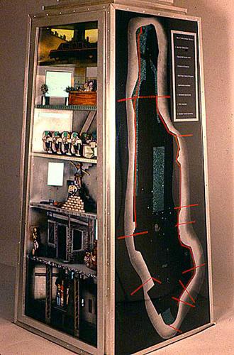 A.T.M. 1987 . mixed media . interactive sculpture . 108inx30inx36in