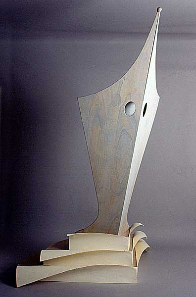Lectern for Virginia Wolf . 1994 . wood & paper . 108inx84inx48in